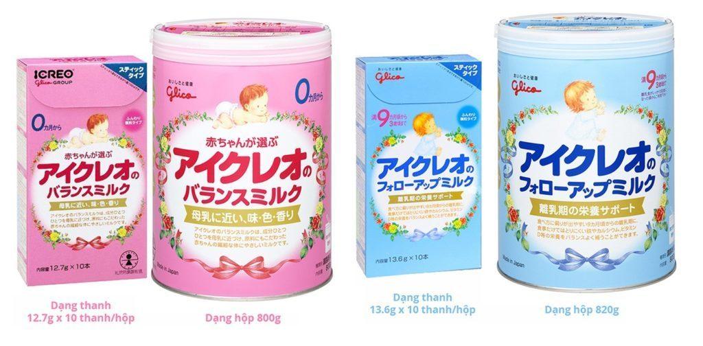 Sữa Glico có mấy loại ? Là những loại nào ? 12